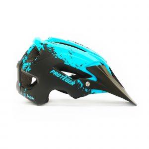 Helm Sepeda MTB Proteger Earth blue black