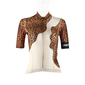 Proteger Bicycle Jersey Leopard Women-Brown
