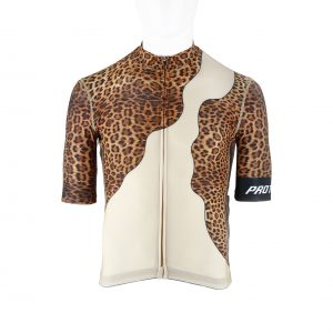 Proteger Bicycle Jersey Leopard Men-Brown