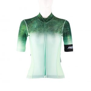 Proteger Bicycle Jersey Crocodile Women-Mint Green