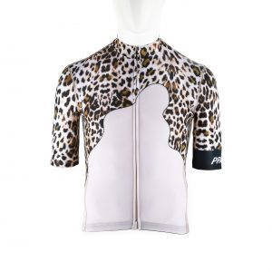 Proteger Bicycle Jersey Leopard Men-White