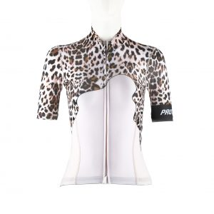 Proteger Bicycle Jersey Leopard Women-White