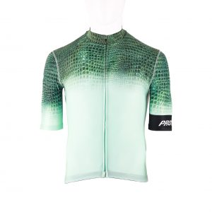 Proteger Bicycle Jersey crocodile men-White